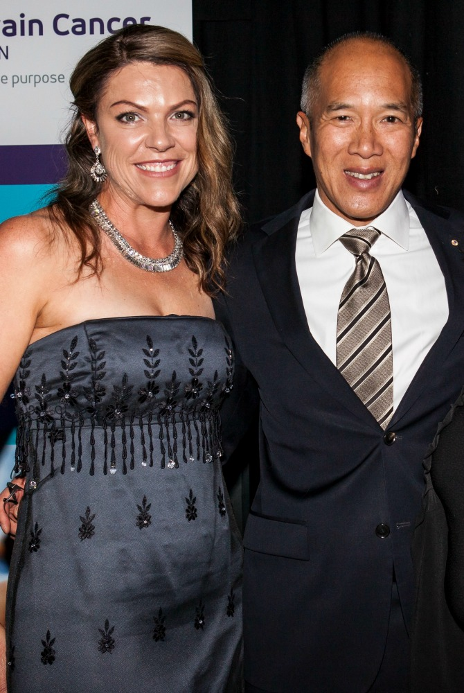Amanda and Professor Charlie Teo