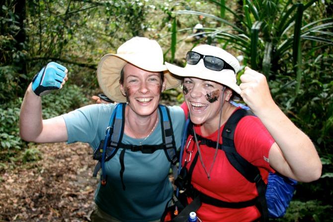 Sarah and Amanda doing the Kokoda Trail