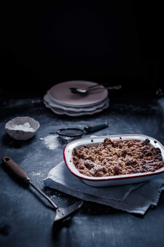 Apple and Rhubarb Walnut Crumble | Anisa Sabet | The Macadames-2