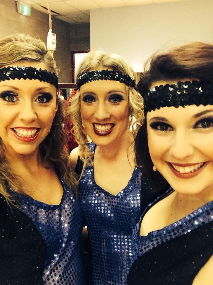 Hannah Carey, Emily Appleton and Carly Savona in Canberra Philharmonic Society's 'Cabaret' 2014.