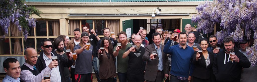 Brewers and beer lovers of Canberra at the launch of Beer Day out on Wednesday 19 October