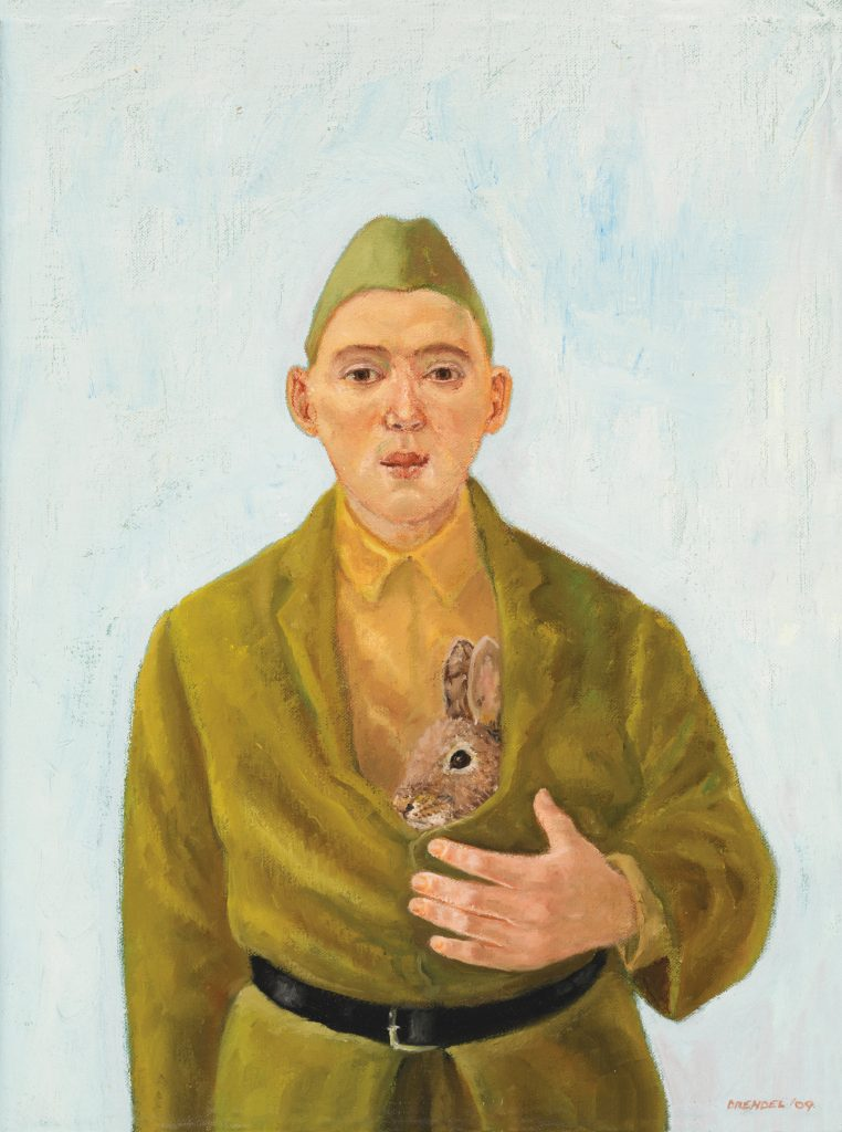 Cadet with rabbit, 2009 by Graeme Drendel. Collection of the artist, Melbourne.