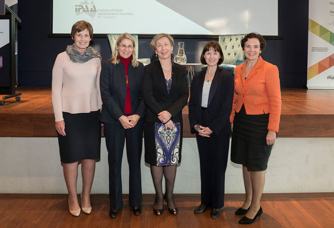 Glenys Beauchamp PSM, Dr Heather Smith PSM, Jane Halton AO PSM, Renée Leon PSM, Kathryn Campbell CSC