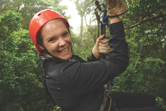 Ziplining in Costa Rica Cloud Forest