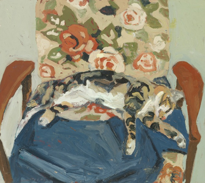 Emitt on the chair, 2001 by Lucy Culliton. Courtesy of Lucy Culliton.