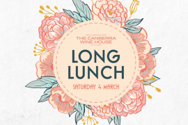 CBR wine house long lunch