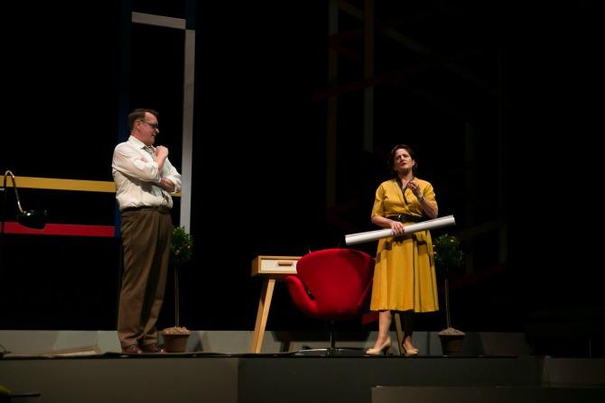 Craig Alexander as Trevor Gibson Sonia Todd as Edith Campbell Berry. Credit: Shelly Higgs