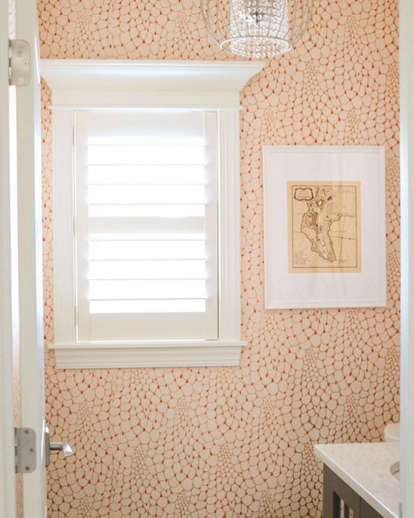 Powder room - Ralativity Textiles soft suble elegant pattern
