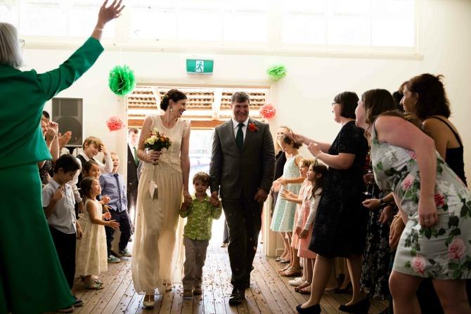 Shannon & Ben entering reception-2