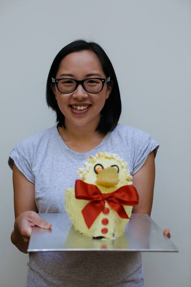 Sonya with duck cake
