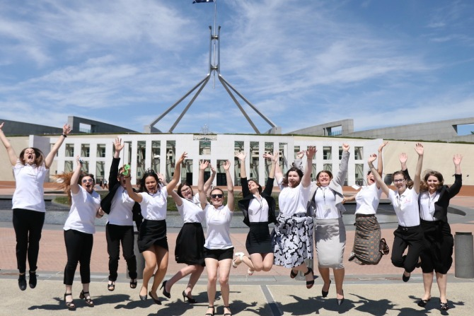 2. Country to Canberra 2016 Winners at Parliament House