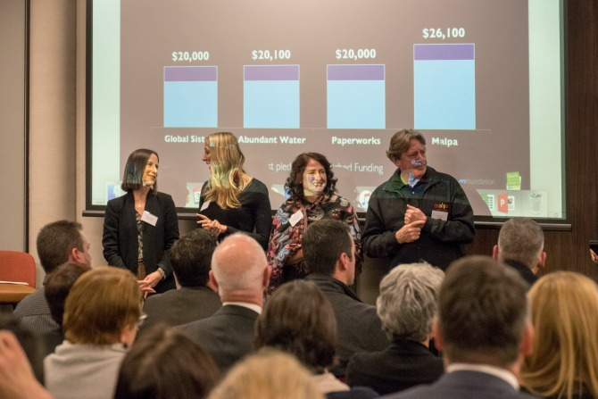 Presenters at The Funding Network's 2016 event