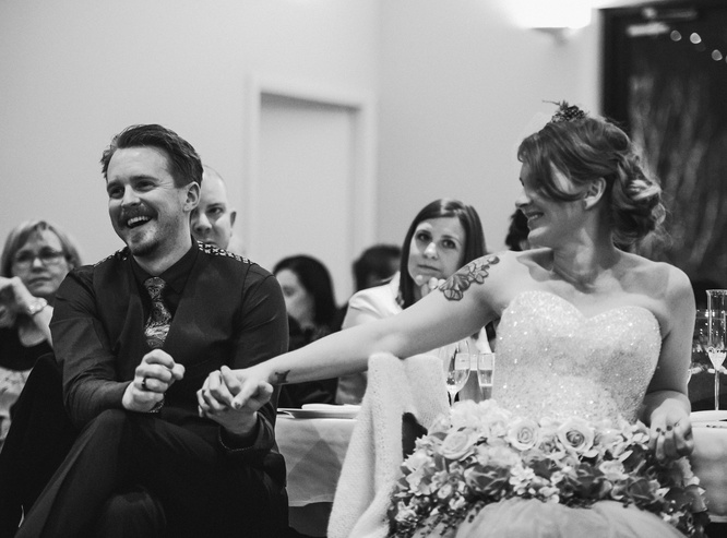 Jess and Matt's rusic winter wedding 12