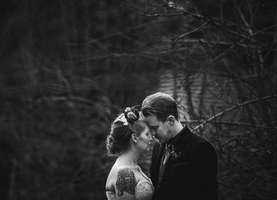 Jess and Matt's rusic winter wedding 6