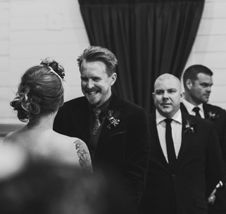 Jess and Matt's rusic winter wedding 8