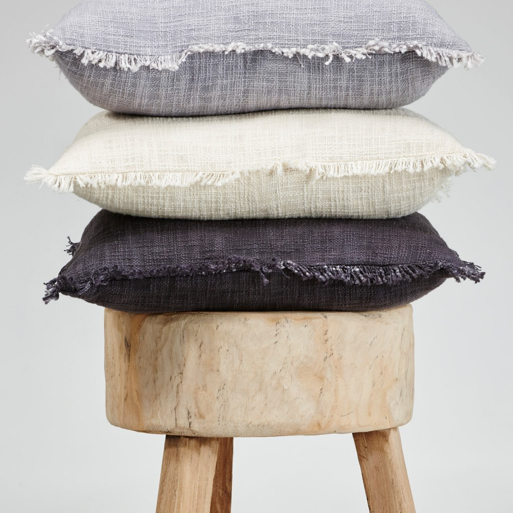 Khadi-Cushions-on-stool-ClothandCo