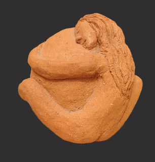Sculpture created by the author after the birth.