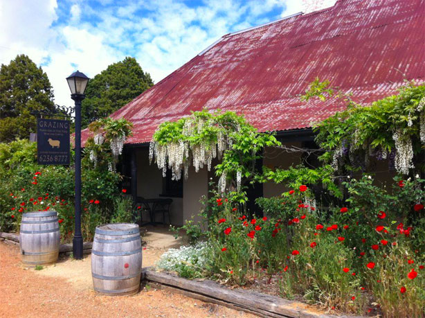 Head out of town to Grazing in Gundaroo - one of our favourite 'cosy' places to eat.