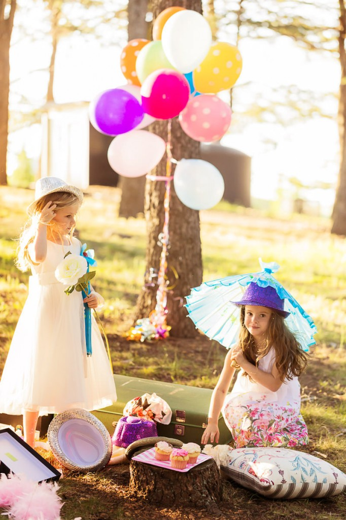 Little girls at picnic