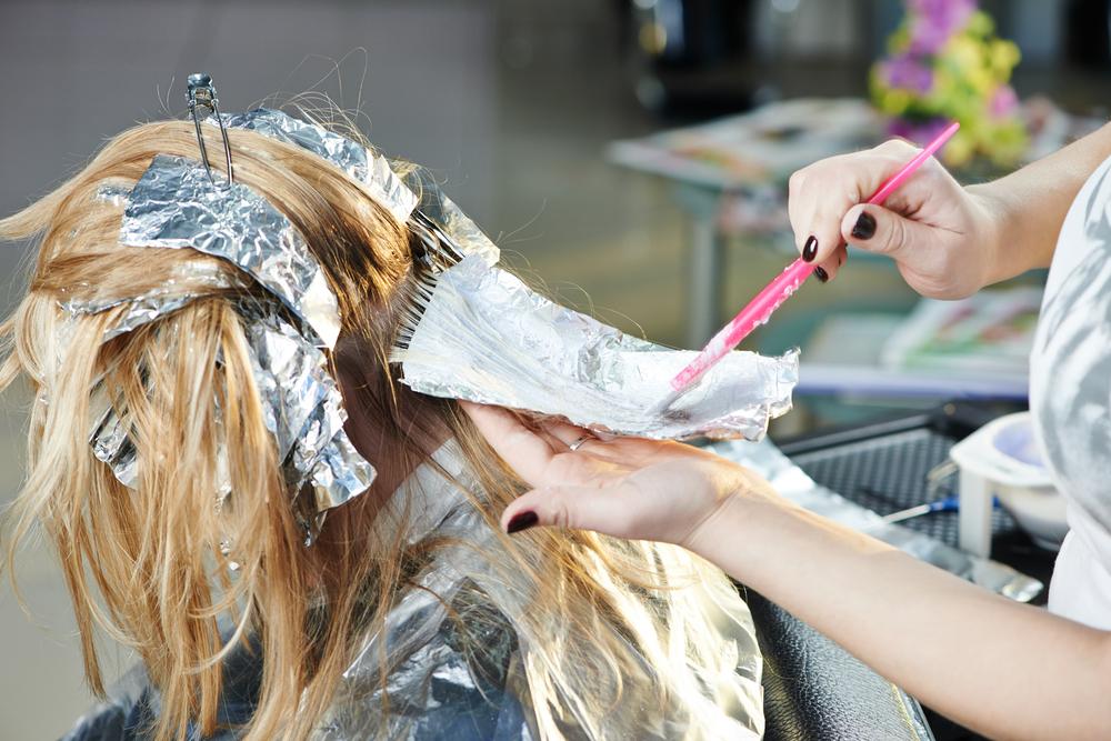Blonde Hair salon touchup
