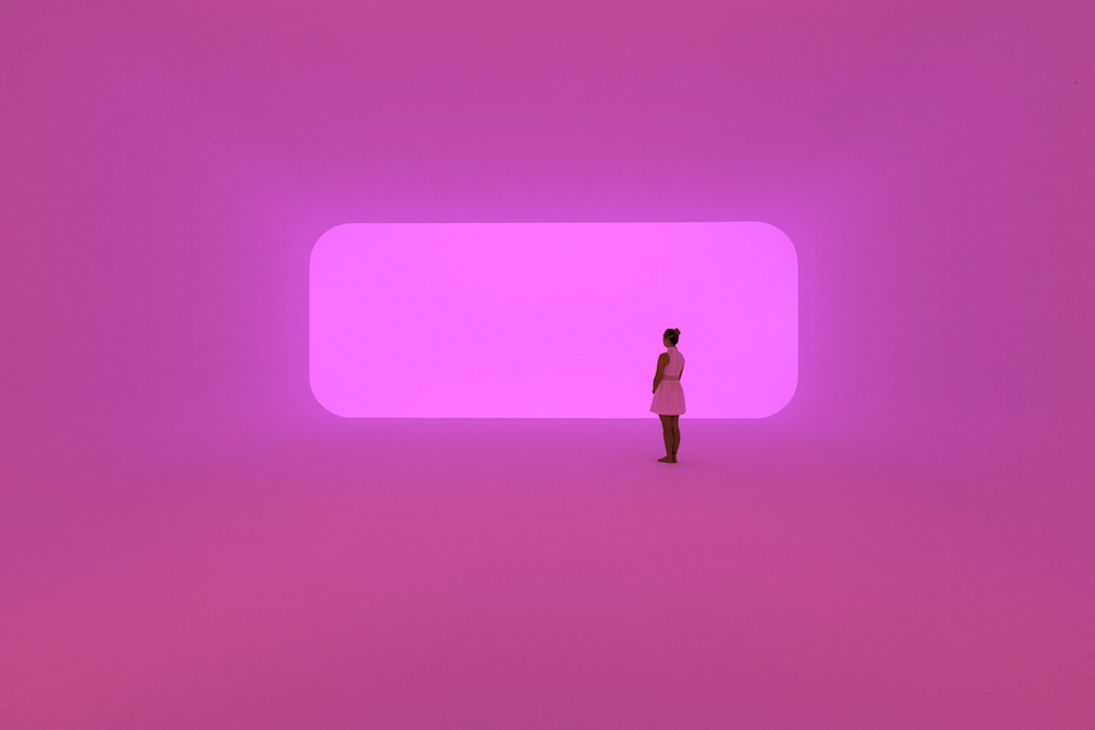 Virtuality squared 2014. Ganzfeld: built space, LED lights (800 x 1400 x 1940.5 cm overall) Collection James Turrell. Photograph: National Gallery of Australia