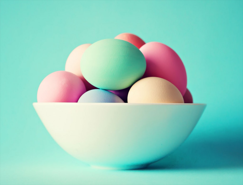 Image of pastel Easter Eggs from shutterstock