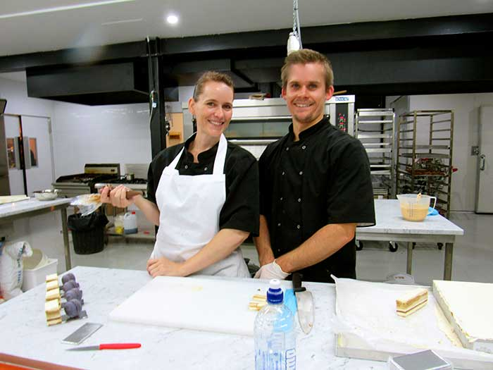 Kate and Benjamin, owners of La Sable Pattisserie.