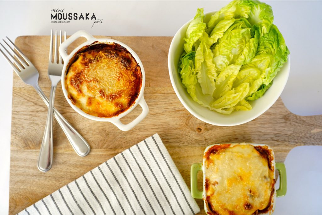mini moussaka pots
