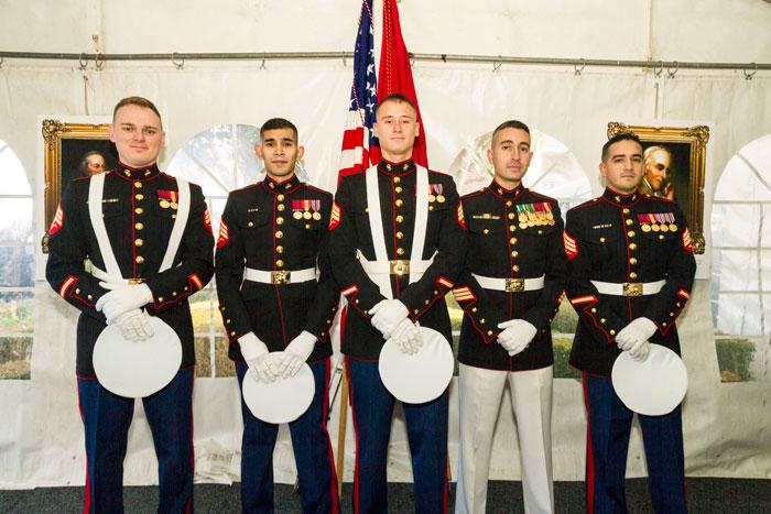 Flag-bearers-Sergeants-Davis,-Lopez,-Junkin,-GV-Sgt-Trevino,-Sgt-Zarate-