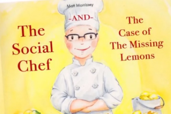 The front cover of the first Social Chef children's book