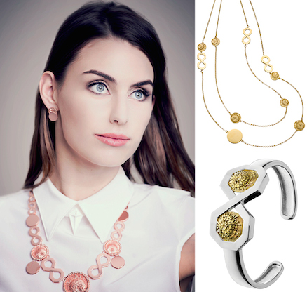 Eternity Collection Trailing Necklace $419.00; and Eternity Collection Double Cuff $279.00.