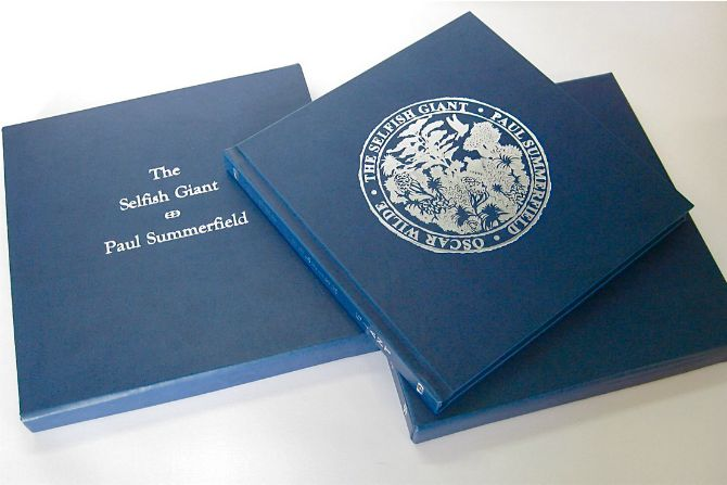 The Selfish Giant artist's book by Paul Summerfield