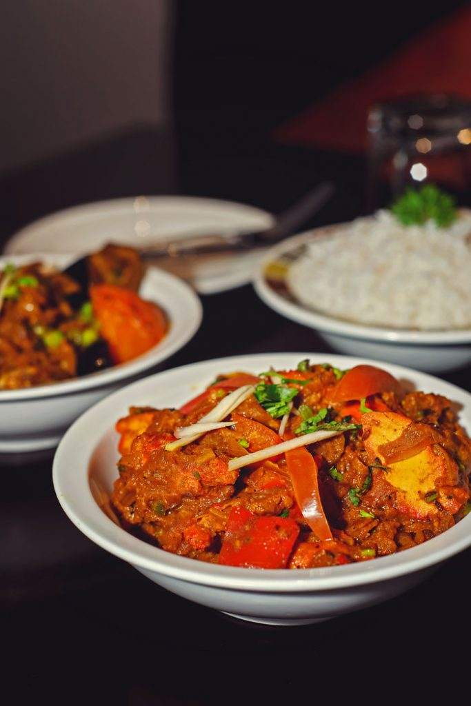The focus of Nepalese food is the spices.