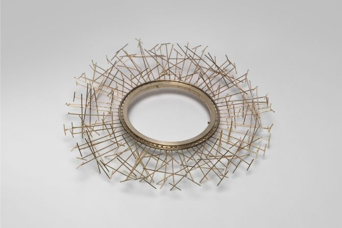Brenda Ridgewell Space edifice, armband 2002 925 silver and 9 carat gold National Gallery of Australia, Canberra Purchased 2003