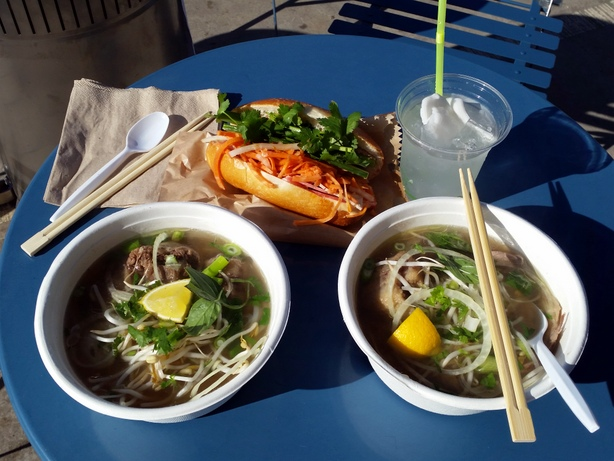 Pho and banh mi from Miss Van's