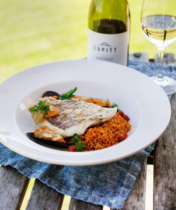 Cupitt's Winery grilled local snapper (photo by Tess Godkin)