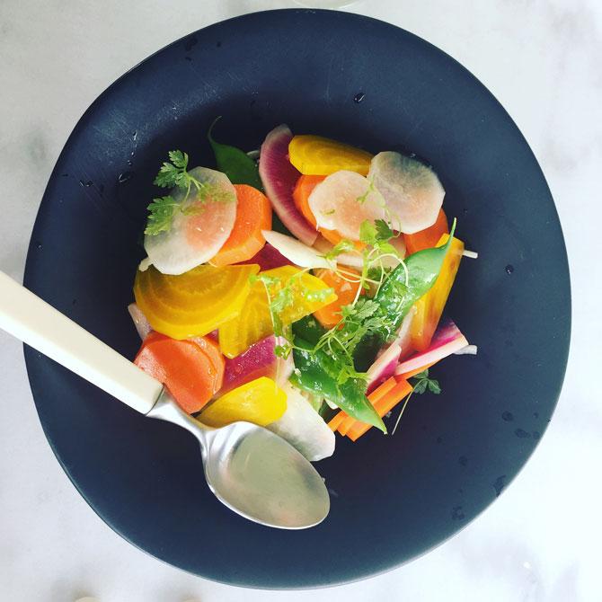Colourful seasonal salad. Photo: Amanda Whitley.