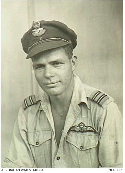 Townsville, Qld. 1945-07-27. Portrait of 404355 Flight Lieutenant Roy Gordon Riddel of Galloways Hill, Qld, Mustang P51-K aircraft pilot of No. 84 Squadron RAAF, based at Ross River airfield. Courtesy of the Australian National War Memorial