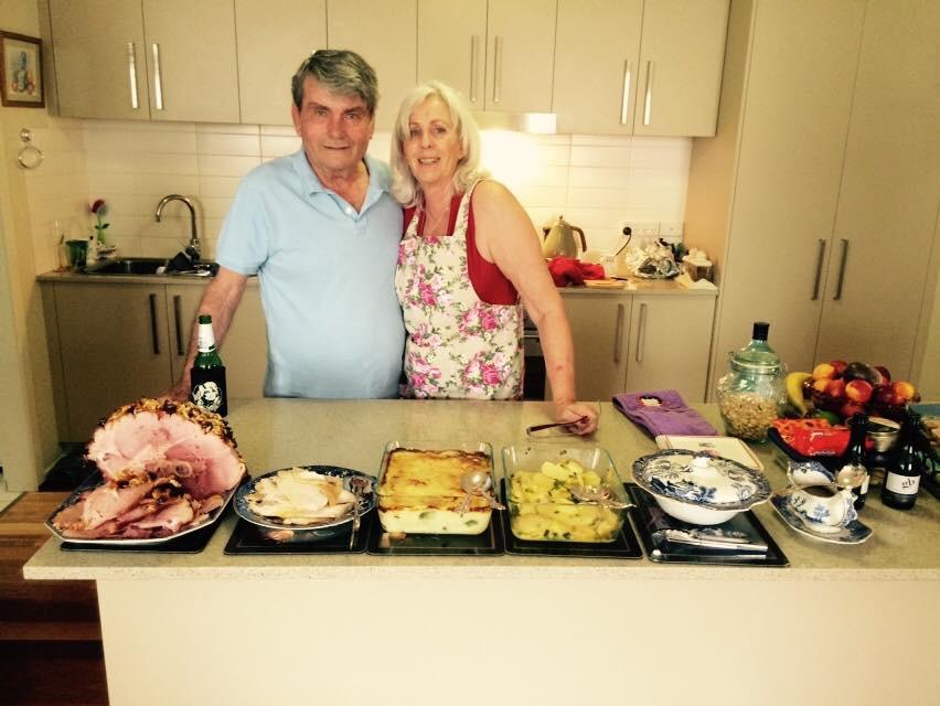 Sophia's parents, John and Judy