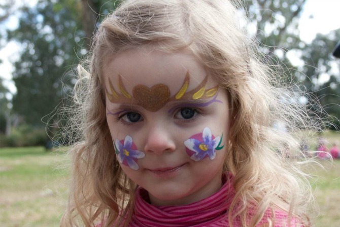 face painting gecko gang