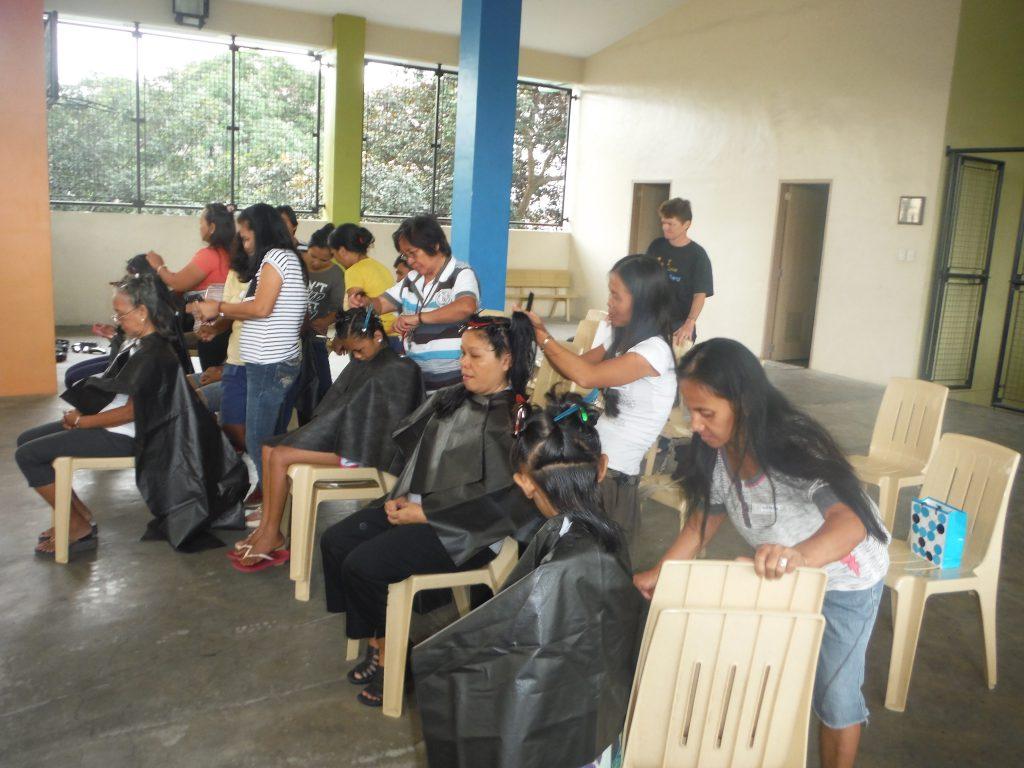 Hair Aid's training salon in Quezon City