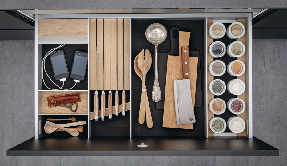 Inside a SieMatic drawer