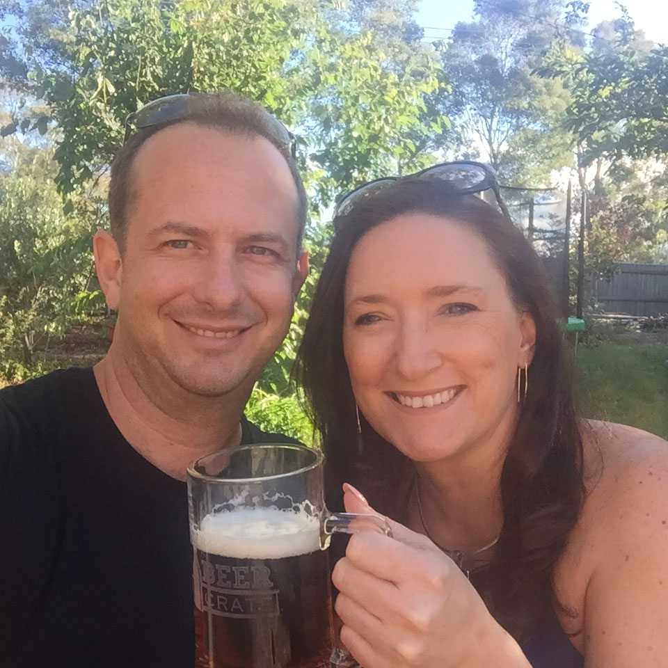 Creators of The Beer Crate, Murray Emerton and Mandy Francis.