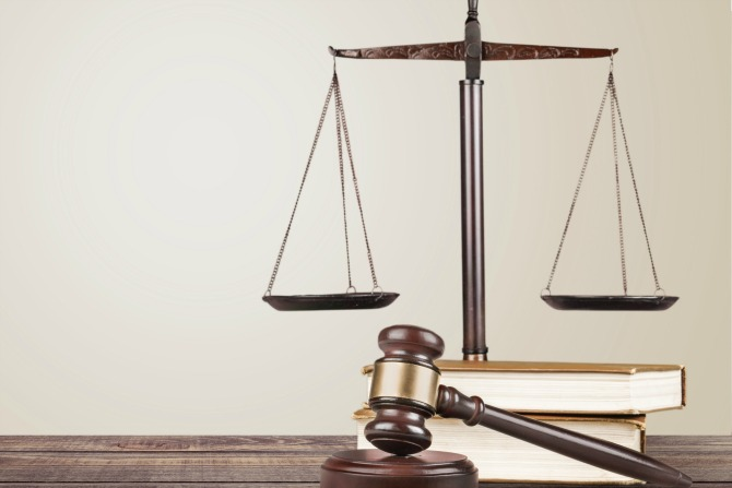 law and scales and gavel