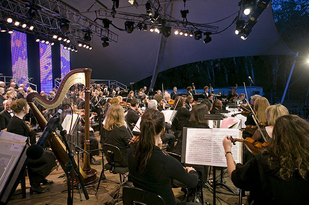 Canberra Symphony Orchestra perform Symphony in the Park at Stage 88. Image: ACT Chief Minister's Department