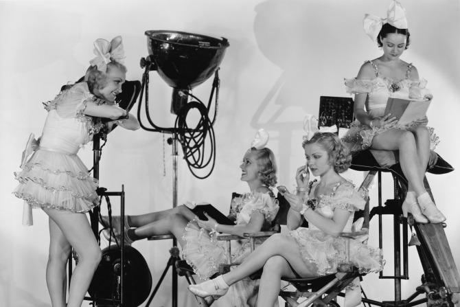 vintage film showgirls feature
