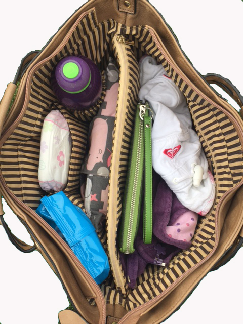 Inside nappy bag-background removed