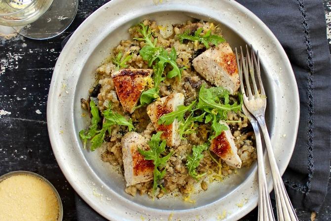 Chicken and mushroom pearl barley