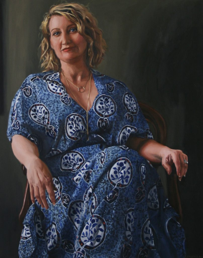 """Amanda Whitley Oil on canvas, 2015 Amanda Whitley is the founder and director of the blog """"Her Canberra"""" Private commission"""