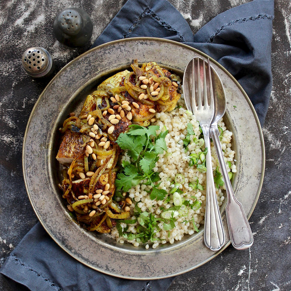 Lebanese Chicken with Herby Pearl Couscous.
